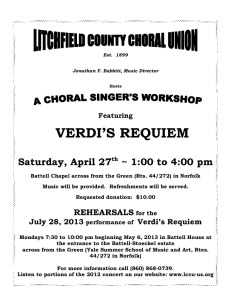 Verdi Requiem Workshop