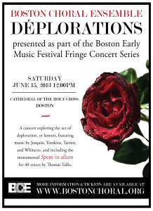 Déplorations: A Boston Early Music Festival Fringe Concert