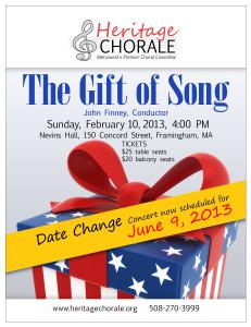 Heritage Chorale Pops Concert-