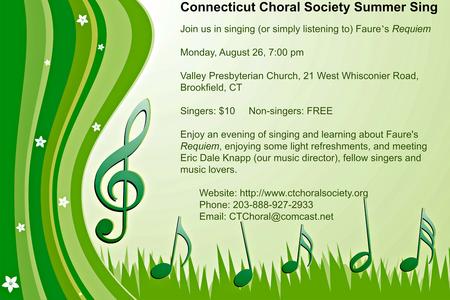 Summer Sing: Fauré's Requiem