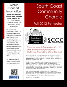 South Coast Community Chorale - Open Rehearsals!