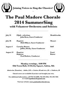 SummerSing: Mozart Requiem