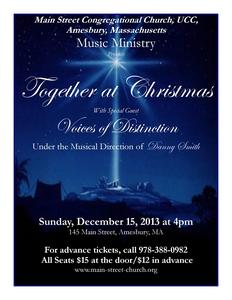 Together at Christmas, a concert for peace