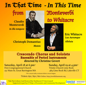 In that Time – In this Time: from Monteverdi to Whitacre