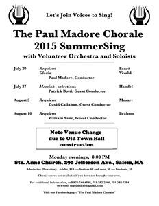 SummerSing: Fauré Requiem, Vivaldi Gloria