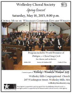 Choral Music by Wellesley Composer Edward Whalen.