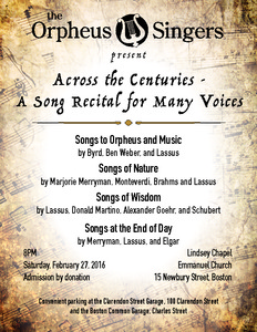 Across the Centuries: A Song Recital for Many Voices