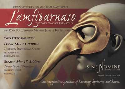 L'Amfiparnaso by Orazio Vecchi, A Madrigal Comedy in Three Acts