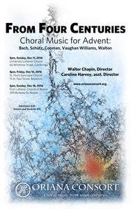 From Four Centuries: Choral music for Advent