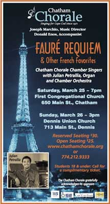Fauré Requiem and other French favorites