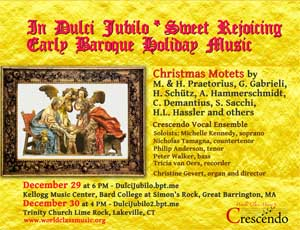 In Dulci Jubilo/Sweet Rejoicing – Early Baroque Holiday Music