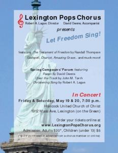 Spring concert: Let Freedom Sing!
