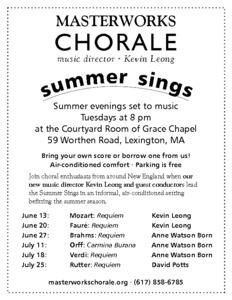 Summer Sing: Mozart Requiem