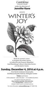 """Winter's Joy: Works for Women's Voices to Brighten the Winter Season"""