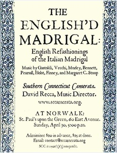 The English'd Madrigal: English Refashionings of the Italian Madrigal