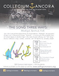 The Song Three Ways: Madrigal, Spiritual, Folk