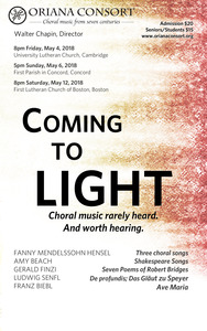 Coming to Light: Choral music no longer obscure