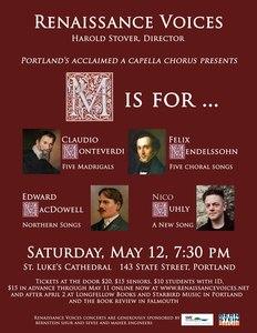 M Is For Monteverdi, Mendelssohn, MacDowell and Muhly