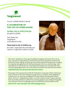 Celebrating the life of John Oliver