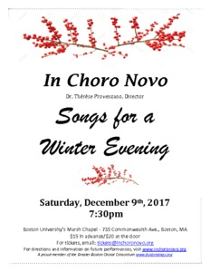 Songs For a Winter Evening