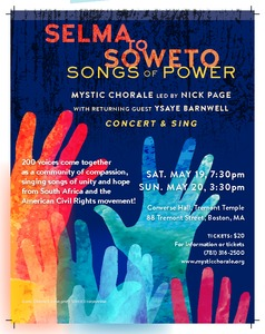 Selma to Soweto: Songs of Power (with Ysaye Barnwell!)