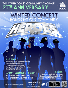 Winter Concert, Honoring Our Community Heroes