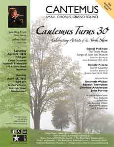 Cantemus Turns 30: Celebrating Artists of the North Shore