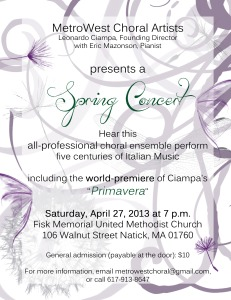 Spring Concert—Five Centuries of Italian Music