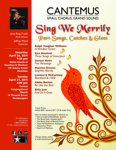 Sing We Merrily: Part Songs, Catches and Glees