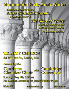 Music of St. Marks Venice with Cambridge Concentus