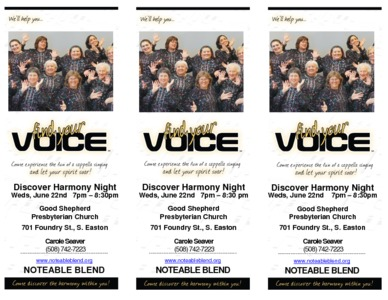 Discover Harmony Guest Night