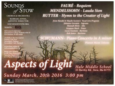 Schumann, Mendelssohn, Fauré, and Rutter