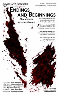 Endings and Beginnings: Choral music as remembrance.
