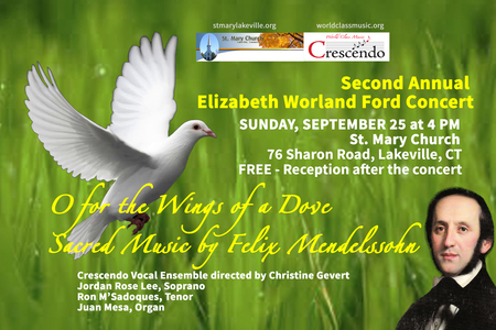 O For the Wings of a Dove: Sacred Music by Felix Mendelssohn.