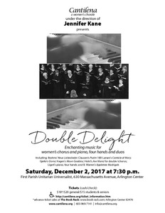 Double Delight: Enchanting music for women's chorus and piano, four hands & duo