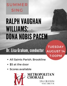 Summer Sing - R. Vaughan Williams: Dona Nobis Pacem