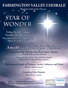 Star of Wonder - featuring Amahl and the Night Visitors, with Hartford Opera Theater