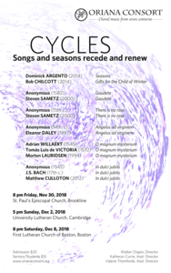 Cycles: Songs and seasons recede and renew