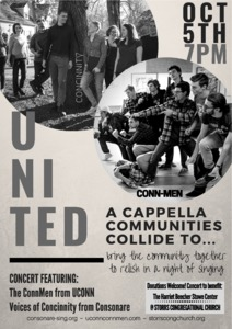 United: a cappella communities collide...to bring the community together to relish in a night of singing.