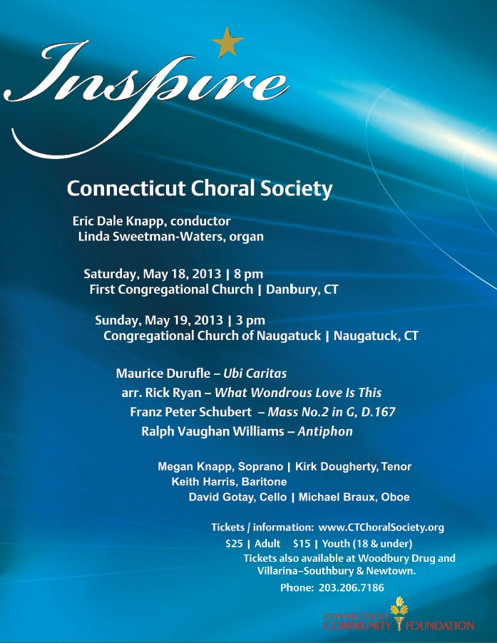 Inspire - CT Choral Society Spring Concert
