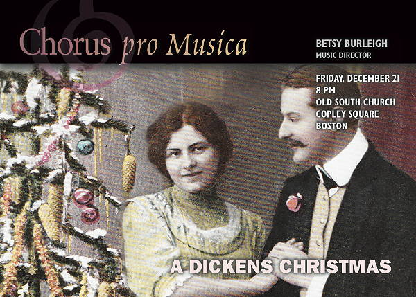 A Victorian Christmas, with the spirit of Charles Dickens.