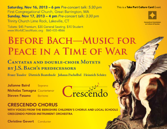 Before Bach: Music for Peace in a Time of War