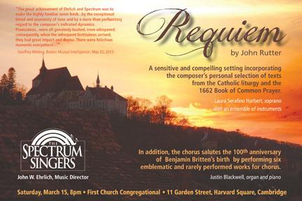 Spectrum Singers Requiem Project.
