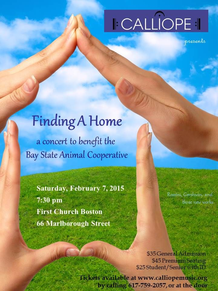 Finding a Home, a Benefit Concert for Bay State Animal Cooperative