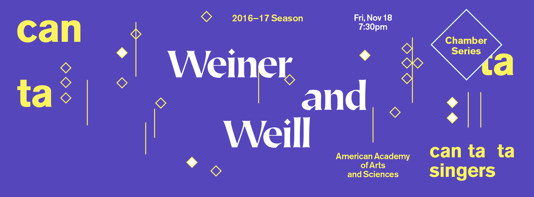 Chamber Series: Weiner and Weill