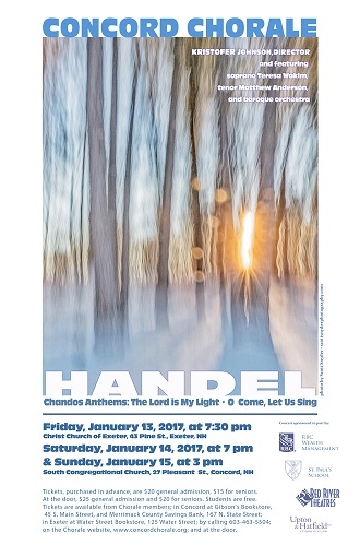 The Concord Chorale presents Handel's Chandos Anthems