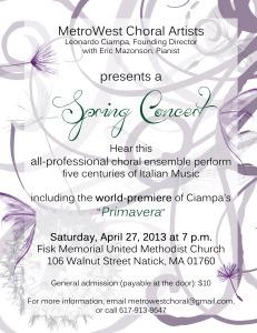Spring Concert—Five Centuries of Italian Music