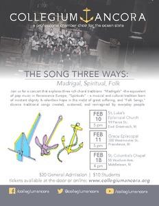 The Song Three Ways: Madrigal, Spiritual, Folk