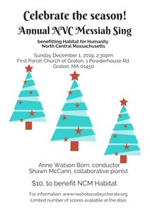Messiah Sing to benefit Habitat for Humanity