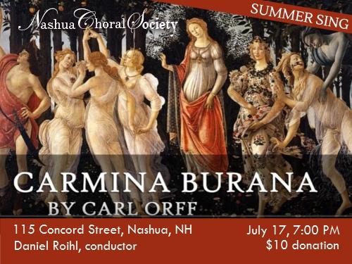 Summer Sings - Carmina Burana - Nashua Choral Society